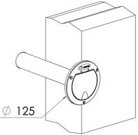Выпускная крышка для защиты трубопровода пылесоса